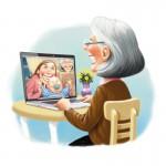 Skypeing with Grandma