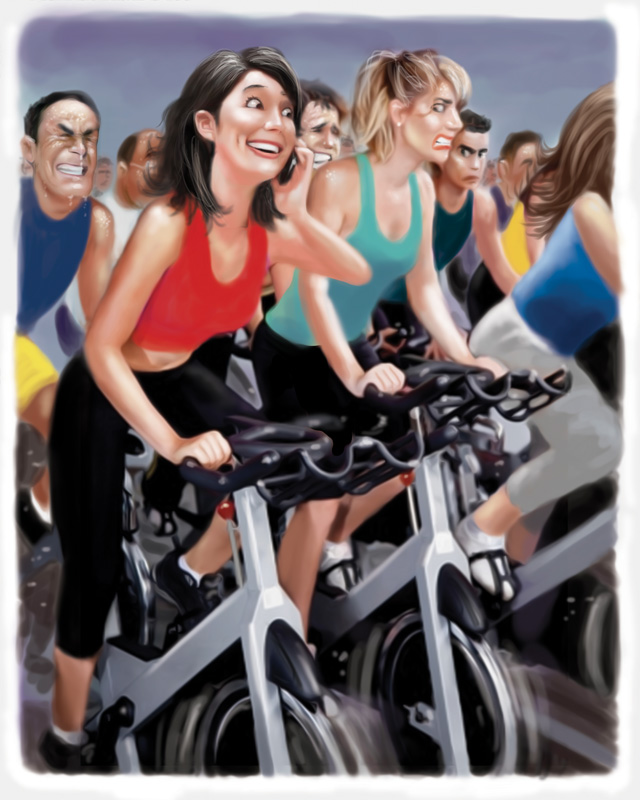That annoying spin class girl